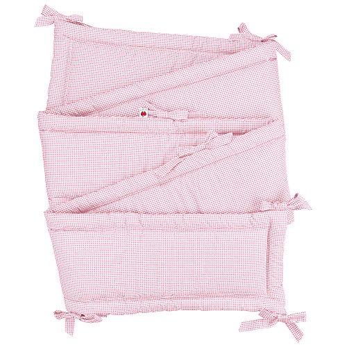 Sugarapple Rundum Nestchen, Bettnestchen & Bettumrandung in Karo rosa, Länge 420 cm für Baby & Kinderbetten, 100% Baumwolle, Oeko Tex 100, Made in Germany