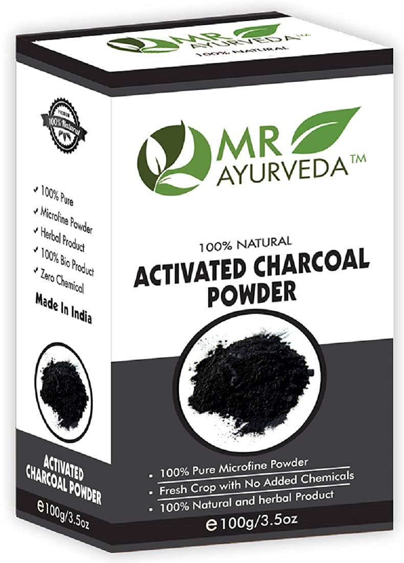 BEWO MR Ayurveda supreme 100% Organic Charcoal Powder Gra Fashion Activated 100