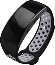 OenFoto Compatible Gear Fit2 Pro/Fit2 Band, Replacement Silicone Accessories Strap Samsung Gear Fit2 Pro SM-R365/Gear Fit2 SM-R360 Smartwatch -Black/Gray