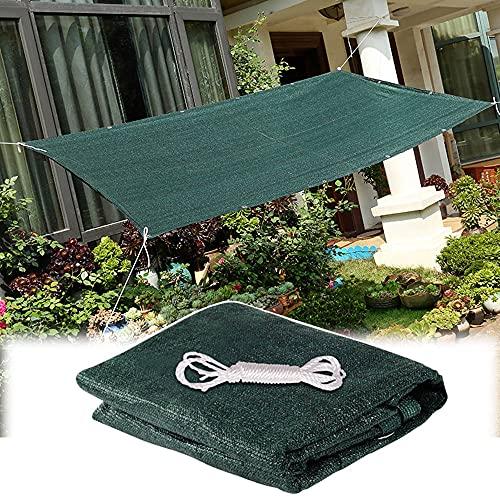 LKP Toldo Vela Rectangular 2x3 M Vela De Sombra De HDPE Malla Protección Solar Toldos Transpirable para Jardín, Terraza, Balcon (Verde)