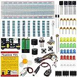 Componenti Elettronici Starter Kit-Kit completo per la creazione di circuiti personalizzati per la scienza, esperimenti STEM con basetta,alimentatore, resistenze, transistor, NE555, motore, ecc.