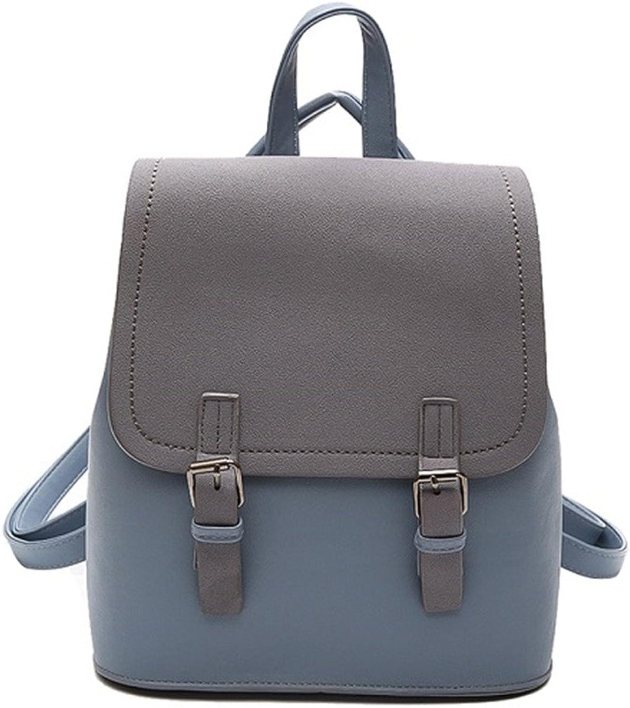 Women Backpacks Small School Bags For Girls Black Scrub PU Leather