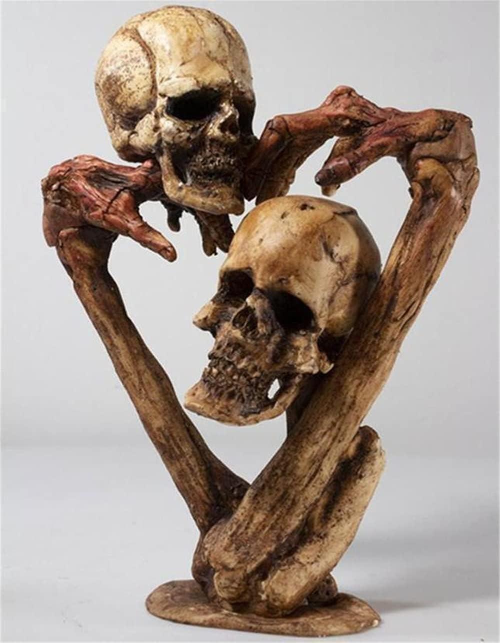 FZHGHJT Halloween Skull 25% OFF Outlet SALE Decoration Crazy Craz Sculptures