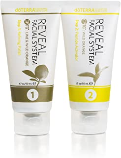 doTERRA - Reveal Facial System - Essential Skin Care - 1 Kit Includes Refining Polish and Peptide Activator (3.4 oz Total)