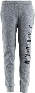 Nike Boy's Air Jordan Jumpman Fleece Jogger Sweatpants Gray/Black Large