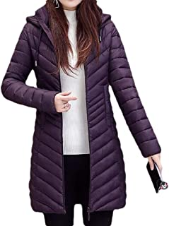 Womens Casual Sweater Warm with Hooded Zipper Drawstring Long Sleeve Down Overcoats Outwear Coat Tops