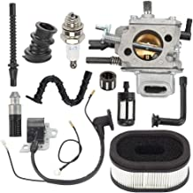 Allong MS660 Carburetor with Air Filter Fuel Filter Ignition Coil Turn Up Kit for STIHL MS640 MS650 MS 660 064 066 Chainsaw