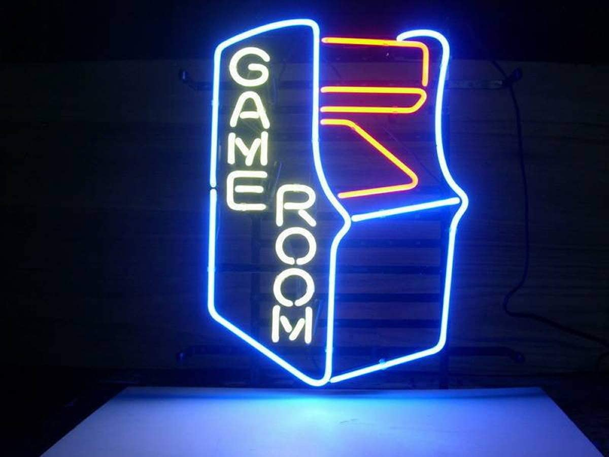 LDGJ Neon Signs Light Sign Home Beer Bar Pub Recreation Room Game Lights Windows Glass Wall Party Birthday Bedroom Bedside Table Decoration Gifts (Not LED)