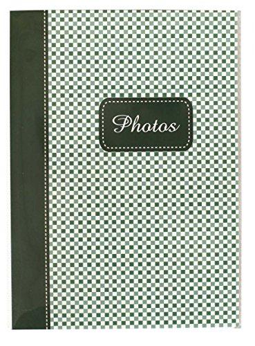 Elements Fotoalbum für 36 Fotos in 10x15 cm Einsteck Foto Album Minibuch: Farbe: Grün