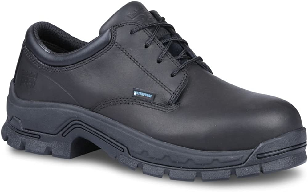 Timberland A1AX5 Mens Stockdale Oxford Alloy Safe Toe Work Shoe, Black - 3.5M