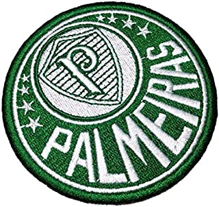TSP046T Palmeiras Brazil Shield Football Soccer Embroidered Patch Iron or Sew Size 3.54×3.54 in