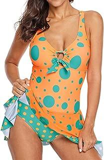 ENLACHIC Women One Piece Swimdress Swimwear Skirt Swimsuits Bathing Suit