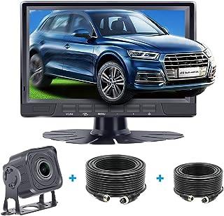 $59 » Kecxny AHD 1080P Backup Camera 7 Inch Monitor System Kit IP68 Waterproof Night Vision Rear/Front View Camera Driving/Rever...