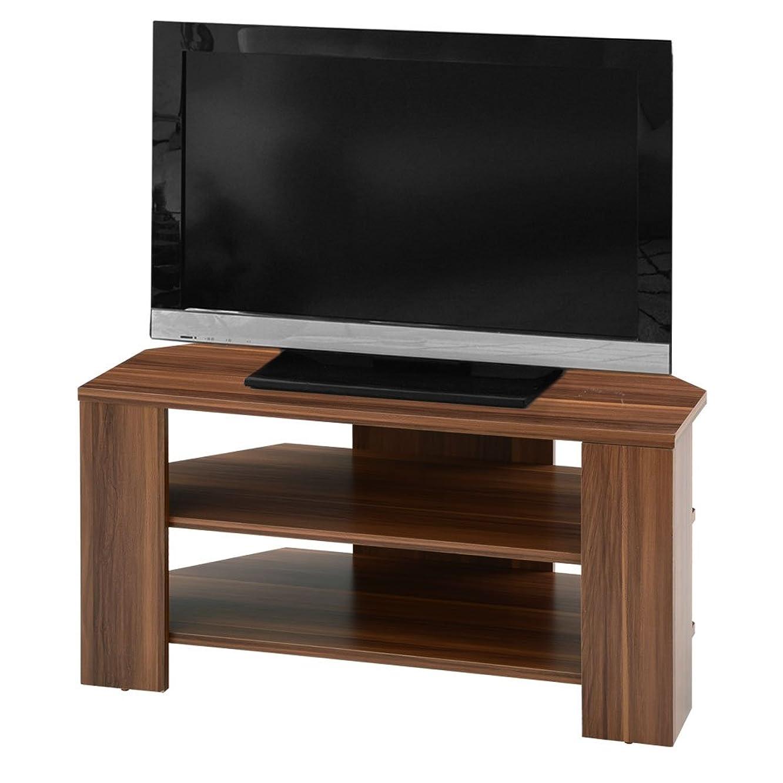 おばあさん廃止ベルベットぼん家具 テレビ台 コーナー 32インチ対応 ローボード 小さい 幅80cm 木製 ウォールナット