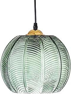 ZZXX Luminaire Suspension en Verre Abat-Jour Vert éclairage de Plafonnier Moderne Lampe Art déco Nordique Salon Salle à Ma...