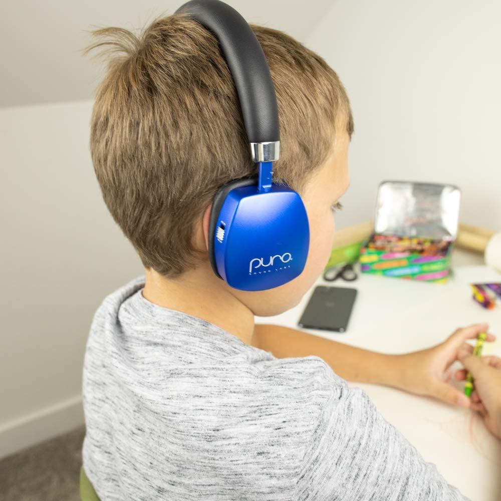 Grey Puro Sound Labs PuroQuiet On-Ear Active Noise Cancelling Headphones for Kids//Teens//Children Wireless Bluetooth Volume Limiting Headphones