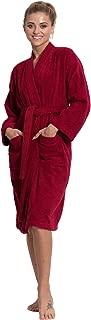 Women's Terry Cloth Robe Turkish Cotton Terry Kimono Collar