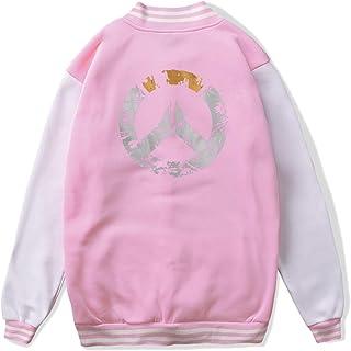 VJJ AIDEAR Overwatch Baseball Uniform Jacket Sport Coat Boys' Long Sleeve Hoodie Hooded Sweatshirt Black