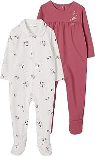 VERTBAUDETLot de 2 pyjamas bébé en coton imprimé fleurslot aubergine3M - 60CM