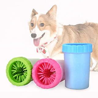 Ezonedeal Dog Paw Cleaner Portable Pet Cleaning Brush Cup Silicone Dog Foot Washer Brush 360 Degree Soft Silicone Claws Wa...