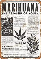 1928マリファナ青春金属の暗殺者レトロな壁の装飾ティンサインバー、カフェ、家の装飾
