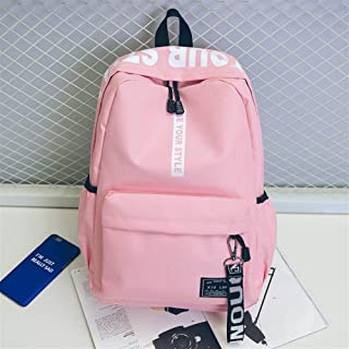 HYXADLY Computer Backpack Korean Fashion Trend Backpack Outdoor Travel College Backpack (Color : Pink, Size : 43 * 26 * 13CM)