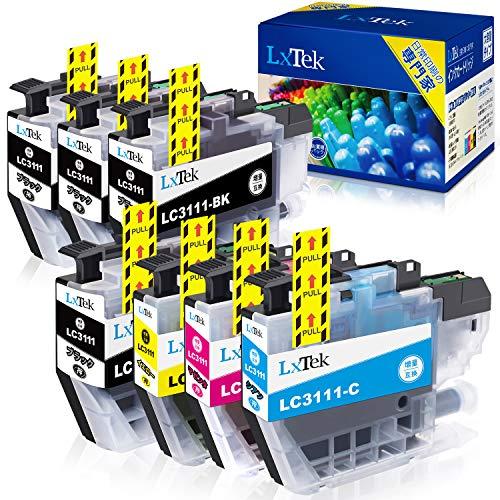 【LxTek】Brother用 ブラザー互換 LC3111 インクカートリッジ 7本セット (4色セット+ 黑3本) LC3111-4PK 『互換インク/2年保証/大容量/残量表示/個包装』