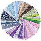 AONER (100% Baumwolle) 42 Stück 6 Farbsystem Patchwork
