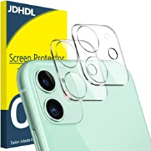 [2 Pack] JDHDL Camera Lens Protector for iPhone 11 Tempered Glass HD Clear, [Easy Install] [9H Hardness] [Anti-Scratch] [Upgrade Flash Friendly] [Bubble Free] Camera Protector 6.1""