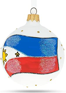 Best BestPysanky Flag of Philippines Glass Ball Christmas Ornament Review