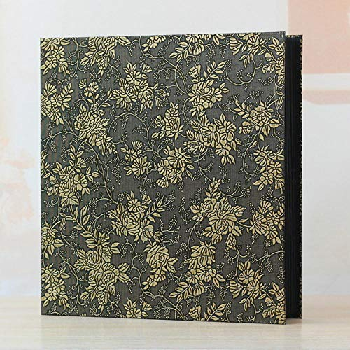 EDCV Frame Cover Grote familie Huwelijksverjaardag Baby Vakantie Fotoalbum 600 zakken Geschikt voor 4x6, oude bruine wijnstok