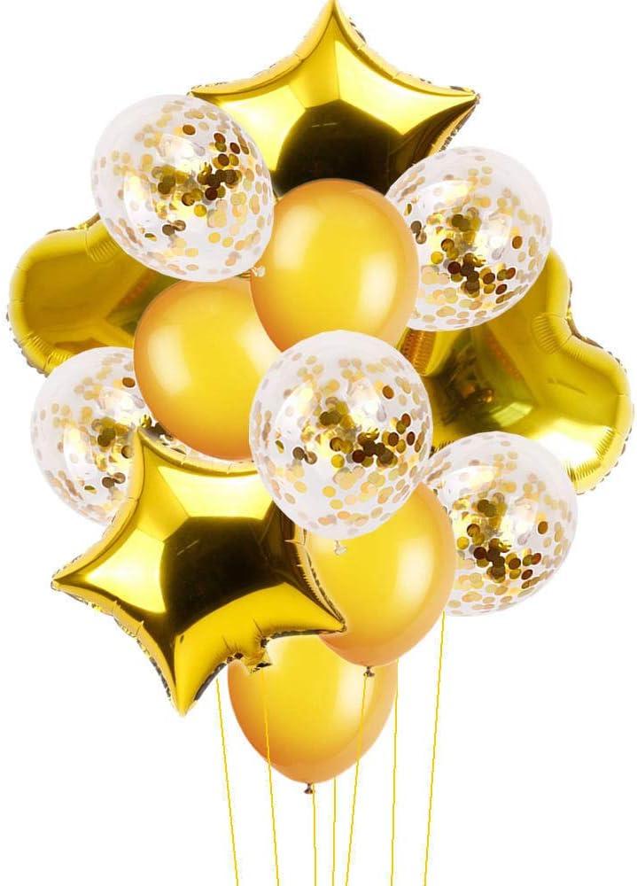 10//14pcs Wedding Birthday Balloons Latex Foil Ballons Kids Boy Girl Baby Party