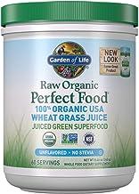 Garden of Life Raw Organic Perfect Food 100% Organic USA Wheat Grass Juice - Juiced Green Superfood Greens Powder, 60 Serv...