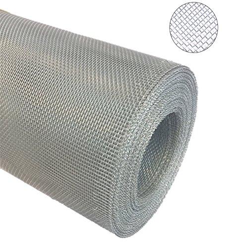 Green Home Aluminium Gewebe Fliegengitter Alu-Gewebe Fliegenschutz Alunetz Gitter Lichtschacht als Rolle (100 cm x 120 cm)