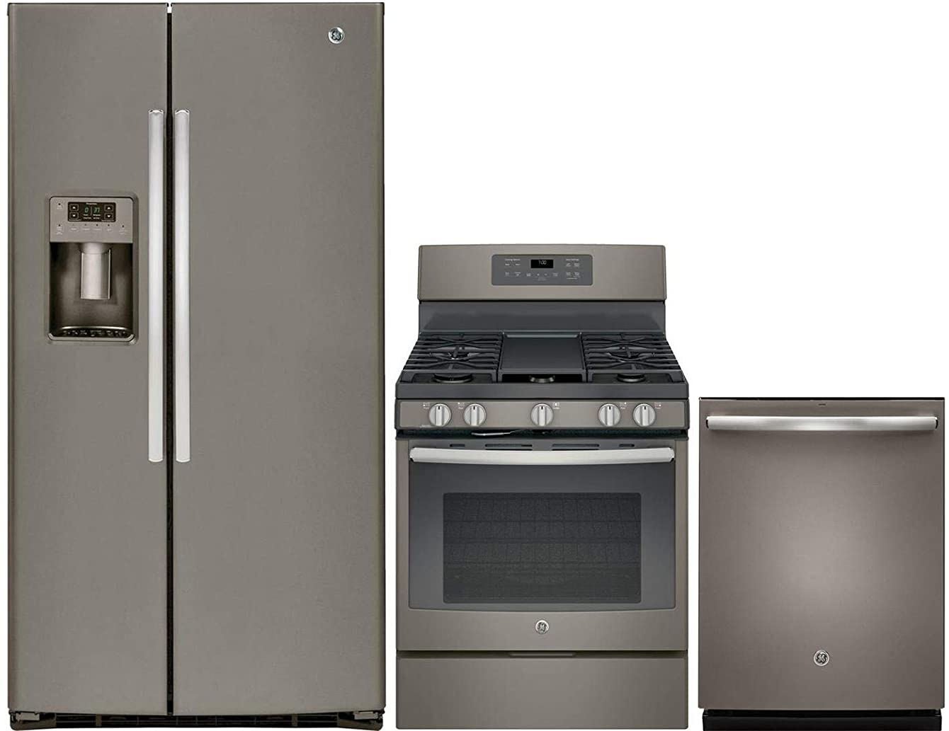 GE 3 Piece Kitchen Appliance Package with GSE25HMHES 36