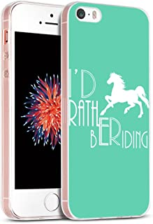 Case for Phone SE Horse/IWONE Designer Non Slip Rubber Durable Protective Skin Transparent Cover Shockproof Compatible with iPhone 5S/5/SE + Horse Design Animal Writings