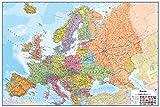 Wallpops Fine Décor borrado en seco Mapa de Europa