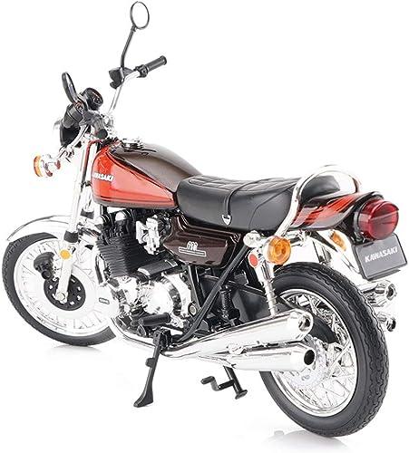 GLJJQMY Motorrad Spielzeug Modell Kawasaki 750-RS braune Stra oberfl e Lokomotive Simulation Legierung Motorrad Modell Sammlung Geschenke