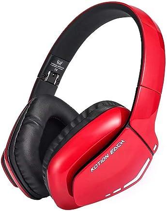 CSZH Cuffie da gioco wireless Bluetooth Headphones Cuffie Headban con auricolare per microfono con qualità audio migliorata e migliore equalizzazione per iPhone Samsung Smart Phone (nero rosso) - Trova i prezzi più bassi