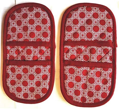 Mini Oven Mitts with Fridge Magnets 100 Quilted Cotton Fabric These Safely Protect Hands from product image