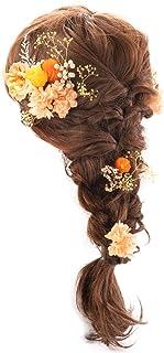 (ファンファン) &Preser プリザーブドフラワー ヘッドドレス 髪飾り 花 ヘアアクセサリー 卒業式 袴 ウェディング ブライダル 結婚式 パーティ