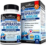 Respiratory & Immune Supplement with Quercetin for Lung Health Support - Soothes Respiratory Tissues & Helps Loosen Mucus - with Vitamins C & D to Promote Reduction in Oxidative Stress - 60 Capsules