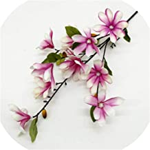 Huzzg 5 Forks Real Touch Artificial Orchid Flowers DIY Floral Fake Flowers for Wedding Party Supply Home Garden Farmhouse Decoration,Purple