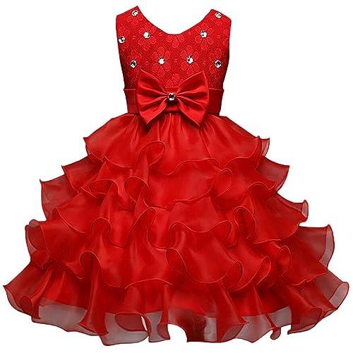 5288b2628 Csbks Girls Wedding Party Dress Pageant Baby Ruffles Tulle Princess Dresses