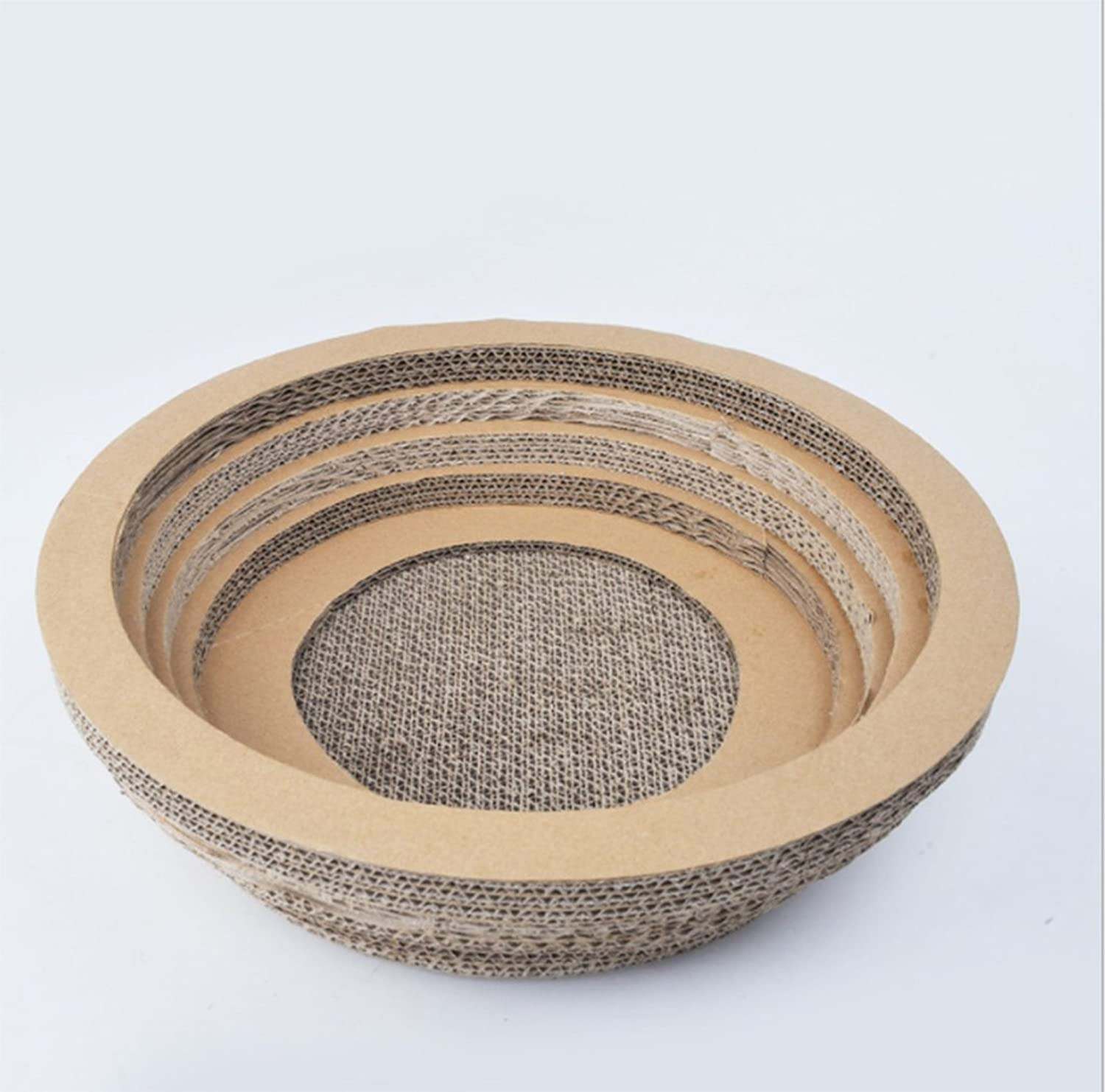 ABGLKMY Modern Creative Corrugated Paper Bowl Cat Litter Cat Scratch Board Cat Bowl Round Cat Scratch Board Cat Corrugated Pet Pet Claws Plate Large