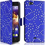 Seluxion Diamond style Wallet Shell Case in Blue for Wiko