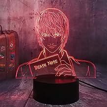 Figurka Anime Yagami 3D LED lampka nocna Multicolor RGB Bulb Home dekoracyjny fani filmów, nastolatki, urodziny, Boże Naro...