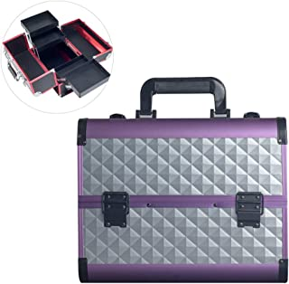 Makeup Train Cases Professional Travel Makeup Bag Cosmetic Case Organizer Large-Capacity Portable Travel Suitcase