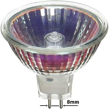 Satco S1976 20 Watt MR16 Halogen GX5.3 Base 120 Volt Clear FL 36 Beam Pattern No Harmful Ultraviolet Rays Light Bulb With Lens