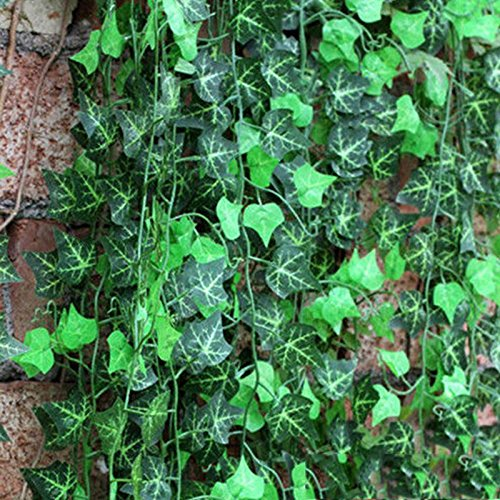 Licodonas Ligong 1 Piece Artificial Ivy Leaf Garland Plants Vine Fake Foliage Flowers Home Decor Approx 2.5m - Ornament ArtificialTree Flower Woman Quality Flower Game Plasti